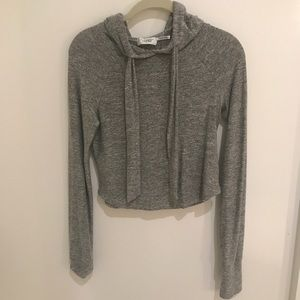 Urban Outfitters Fitted Grey Sweatshirt